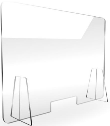 Barriera in plessiglass